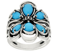 Carolyn Pollack Sterling Sleeping Beauty Turquoise Ring