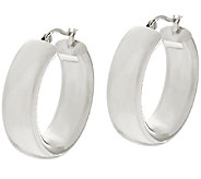 Stainless Steel Polished Round Hoop Earrings Steel by Design - J321497