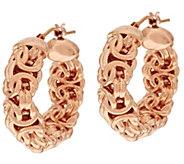 As Is Oro Nuovo 1 Byzantine Round Hoop Earrings, 14K Gold - J322197
