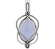 Carolyn Pollack Sterling Silver Oval Gemstone Swirl Enhancer - J322897