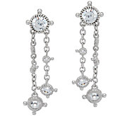 Judith Ripka Sterling 118 Facet Diamonique Drop Earrings - J323197