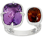 Judith Ripka Sterling 12.0 cttw Gemstone Cuff Ring - J326797