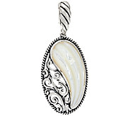 Carolyn Pollack Sterling Silver Carved Mother-of-Pearl Oval Enhancer - J327397