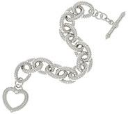 Judith Ripka 8 Sterling Verona Heart Clasp Bracelet 58.5g - J328697
