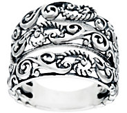Carolyn Pollack Sterling Silver Signature Three Row Ring - J329597