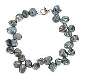 As Is Honora Cultured Pearl 7.0mm Keshi Bracelet with Sterling Clasp - J332897