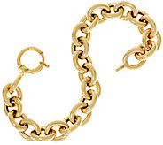 14K Gold 7-1/4 Polished Oval Rolo Link Bracelet, 11.6g - J333597