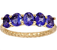 Exotic Gemstone 5-Stone Diamond Cut Ring, 14K Gold 1.10 cttw - J334697