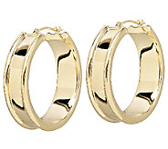 EternaGold Bold Cigar Band Hoop Earrings, 14K Gold - J336297