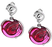 Kalos by Hagit Sterling Parsian Rose Glass Swirl Earrings - J336897