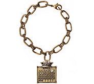 Brasstone Personalized Calendar Crown Charm Bracelet - J337997