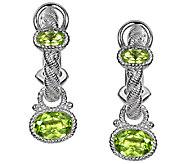 Judith Ripka Sterling 1.90cttw Peridot Charm Earrings - J338497