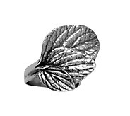 Sterling Silver Textured Leaf Ring by Or Paz - J339497