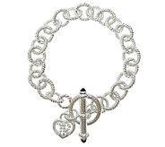 Judith Ripka Sterling 6-3/4 Link Toggle Bracelet - J339797