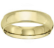 18K Gold 6mm Milgrain Comfort Fit Wedding BandRing - J340297