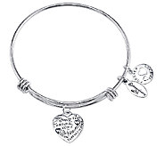 Sterling Expandable Forever Charm Bangle by Extraordinary Life - J340597