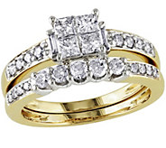 Cluster Diamond Ring Set, 14K Yellow Gold, by Affinity - J340897