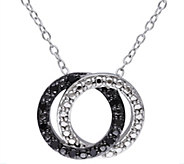 Black Diamond Pendant w/Chain, Sterling, by Affinity - J344197