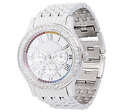 Stainless Steel Panther Link Watch with CrystalAccent - J344397