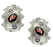 Judith Ripka Sterling Multi Gemstone Hoop Earrings - J344897