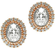 Judith Ripka 14K Rose Gold-Clad Oval Button Earrings - J345797