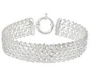 Sterling Silver 8 Diamond Cut Woven Bracelet by Silver Style 16.2g - J346097
