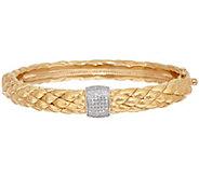 As Is 14K Gold Average Snakeskin & Diamond Oval - J347797