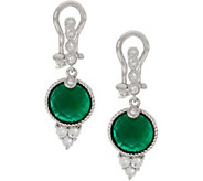 Judith Ripka Sterling Silver Green Chalcedony Drop Earrings - J347897
