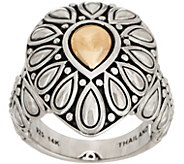 JAI Sterling Silver & 14K Gold Lotus Petal Ring - J351697
