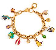 Lauren G Adams Enamel Woodland Animal Charm Bracelet - J354097