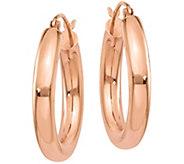 14K Round 1 Hoop Earrings - J374797