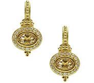 Judith Ripka 14K Gold Morganite & Diamond Earrings - J375597