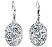 Sterling 3.00 cttw Apatite & White Zircon Earrings - J375797