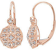 Diamond Filigree Earrings, 14K Rose Gold, 1/8 cttw, Affinity - J376497