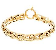 14K Gold Polished Woven Wheat Bracelet 8.8g - 10.5g - J56797