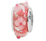 Prerogatives Sterling Pink with Flowers GlassBead - J108898