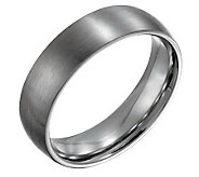 Forza Mens 6mm Steel Brushed Ring - J109498