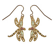 Black Hills Delicate Dragonfly Earrings, 10K/12 K/14K Gold - J113698