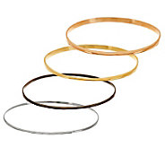 RLM Studio Set of 4 Sterling, Brass Hematine & Bronze Bangles - J276498