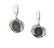 Or Paz Sterling Australian Opal Triplet Dangle Earrings - J278798