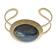 As Is Veronese 18K Clad Large Labradorite Cuff - J285998