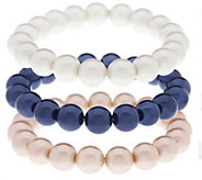 Linea by Louis DellOlio Simulated Pearl Bracelet Set - J287998