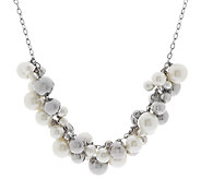 Stainless Steel Simulated Pearls and Beads Charm Necklace - J289898