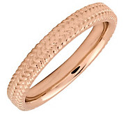 Simply Stacks Sterling 18K Rose Gold-Plated 3.25mm Braid Ring - J298098