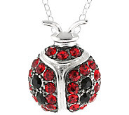 Sterling Crystal Ladybug Pendant with Chain - J308098