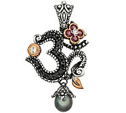 Barbara Bixby Sterling/18K Gemstone Om Enhancer - J309498