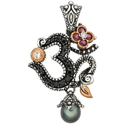 barbara bixby sterling 18k gemstone om enhancer j309498