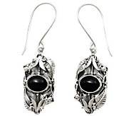 Novica Artisan Crafted Sterling Onyx Earrings - J310798