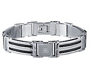 Mens Diamond Link Bracelet, Stainless Steel byAffinity - J311098