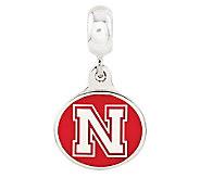 Sterling Silver University of Nebraska Dangle Bead - J314998